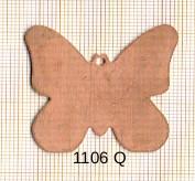 Estampe en cuivre vrac   PAPILLON 38X38MM