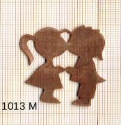 Estampe en cuivre vrac   COUPLE 35X38MM