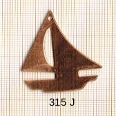 Estampe en cuivre vrac   VOILIER 31X39MM