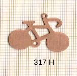 Estampe en cuivre vrac   VELO 33X26MM