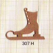 Estampe en cuivre vrac  pendentif PATIN 36X36MM