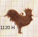 Estampe en cuivre vrac  pendentif COQ 28X28MM