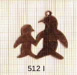 Estampe en cuivre vrac   PINGOUINS 29X32MM