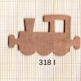 Estampe en cuivre vrac   LOCOMOTIVE 40X27MM