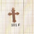 Estampe en cuivre vrac   CROIX 13X21MM