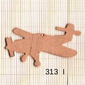Estampe en cuivre vrac  pendentif AVION 40X29MM