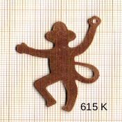 Estampe en cuivre vrac   SINGE 35X45MM