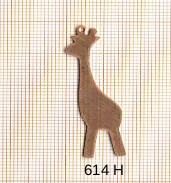 Estampe en cuivre vrac   GIRAFE 14X43MM