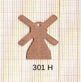 Estampe en cuivre vrac  pendentif MOULIN A VENT 22X30MM