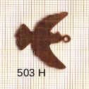 Estampe en cuivre vrac   COLOMBE 26X22MM