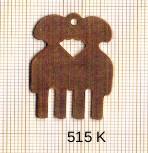Estampe en cuivre vrac   GEMEAUX 23X32MM