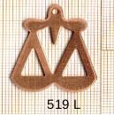 Estampe en cuivre vrac   BALANCE 27X32MM