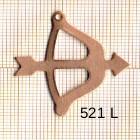 Estampe en cuivre vrac   SAGITTAIRE 32X34MM