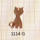 Estampe en cuivre vrac   CHAT 25X13MM