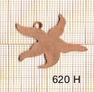 Estampe en cuivre vrac   ETOILE MER 30X25MM