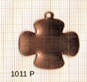 Estampe en cuivre vrac   TREFLE 36X32MM