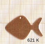 Estampe en cuivre vrac   POISSON 26X33MM