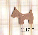 Estampe en cuivre vrac   CHIEN 19X20MM