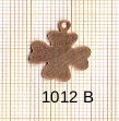 Estampe en cuivre vrac   TREFLE 18X15MM