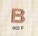 Estampe en cuivre vrac   LETTRE B 15MM