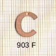 Estampe en cuivre vrac   LETTRE C 15MM
