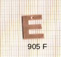 Estampe en cuivre vrac   LETTRE E 15MM