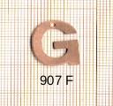 Estampe en cuivre vrac   LETTRE G 15MM