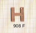 Estampe en cuivre vrac   LETTRE H 15MM