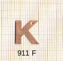 Estampe en cuivre vrac   LETTRE K 15MM