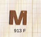 Estampe en cuivre vrac   LETTRE M 15MM