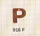 Estampe en cuivre vrac   LETTRE P 15MM
