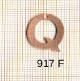 Estampe en cuivre vrac   LETTRE Q 15MM