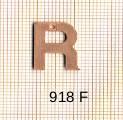 Estampe en cuivre vrac   LETTRE R 15MM