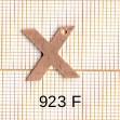 Estampe en cuivre vrac   LETTRE X 15MM