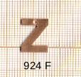 Estampe en cuivre vrac   LETTRE Z 15MM