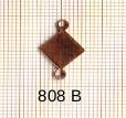 Estampe en cuivre vrac  pendentif CARRE 2 trous .17X11MM