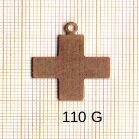 Estampe en cuivre vrac   CROIX 25X21MM