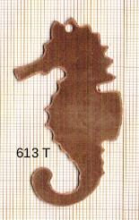 Estampe en cuivre vrac   HIPPOCAMPE 66X32MM