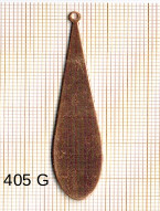 Estampe en cuivre vrac   GOUTTE 53X12MM