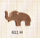 Estampe en cuivre vrac   ELEPHANT 29X18MM