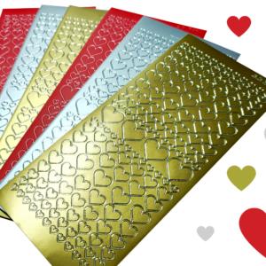 Stickers autocollants peel-off or ou argent 23 X 10cm